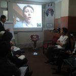 During live speech of Mrs. Ozlem from Turkey